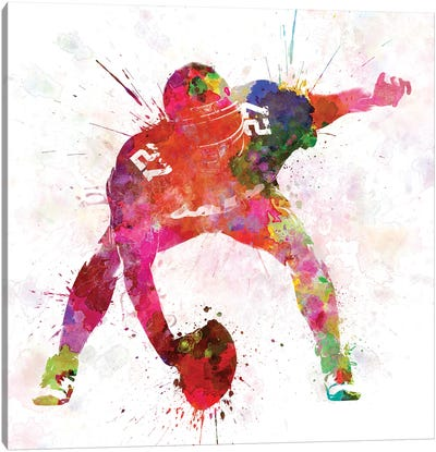 American Football Center  Canvas Art Print