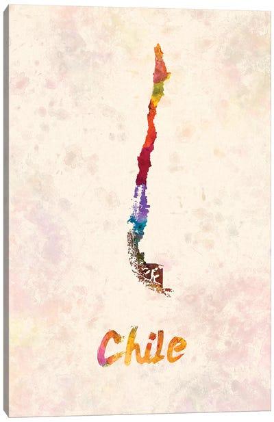 Chile In Watercolor Canvas Art Print