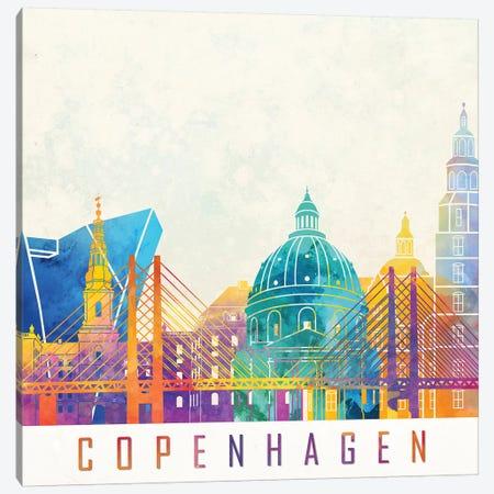 Copenhagen Landmarks Watercolor Poster Canvas Print #PUR161} by Paul Rommer Art Print