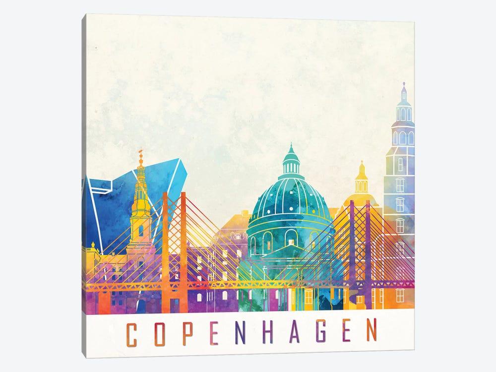 Copenhagen Landmarks Watercolor Poster by Paul Rommer 1-piece Art Print