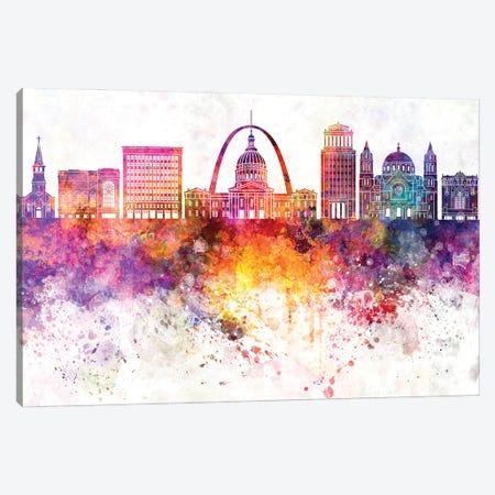 Saint Louis Watercolor Background Canvas Print #PUR1664} by Paul Rommer Canvas Art Print
