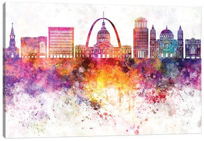 Saint Louis Watercolor Background Canvas Art Print