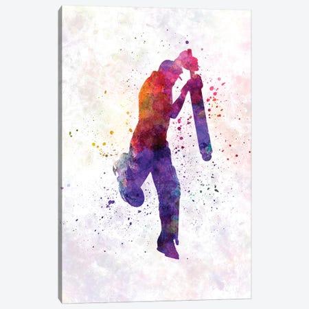 Cricket Player Batsman Silhouette IX Canvas Print #PUR175} by Paul Rommer Art Print