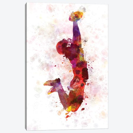 American Football Player Catching Ball I Canvas Print #PUR17} by Paul Rommer Canvas Wall Art
