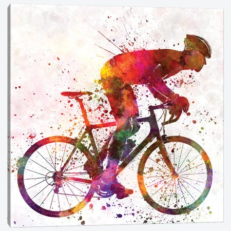 Cyclist Road Bicycle Canvas Print #PUR180} by Paul Rommer Canvas Art Print