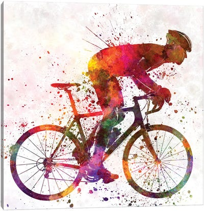 Cyclist Road Bicycle Canvas Art Print