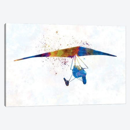 Hang Gliding In Watercolor II Canvas Print #PUR1874} by Paul Rommer Canvas Art