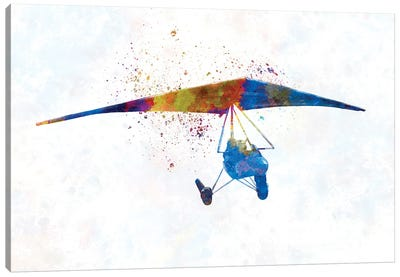 Hang Gliding In Watercolor II Canvas Art Print