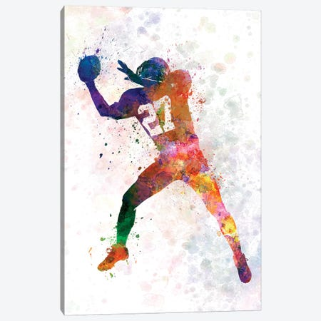 American Football Player Catching Receiving II Canvas Print #PUR21} by Paul Rommer Canvas Art