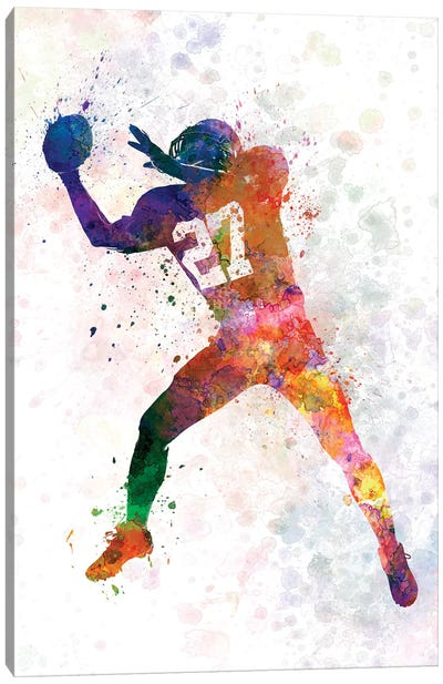 American Football Player Catching Receiving II Canvas Art Print