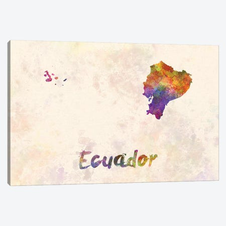 Ecuador In Watercolor Canvas Print #PUR222} by Paul Rommer Canvas Wall Art
