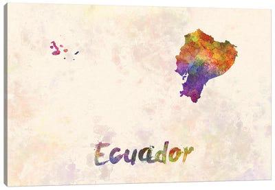 Ecuador In Watercolor Canvas Art Print