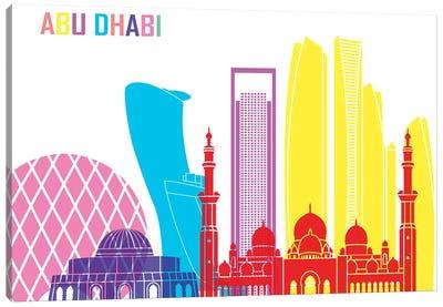 Abu Dhabi II Skyline Pop Canvas Art Print