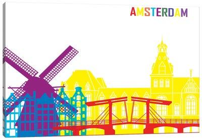 Amsterdam Skyline Pop Canvas Art Print