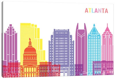 Atlanta II Skyline Pop Canvas Art Print