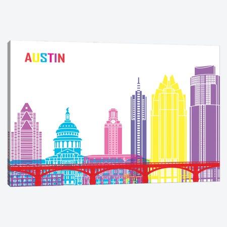 Austin Skyline Pop Canvas Print #PUR2295} by Paul Rommer Canvas Artwork