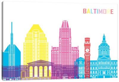 Baltimore II Skyline Pop Canvas Art Print