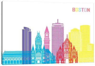 Boston II Skyline Pop Canvas Art Print