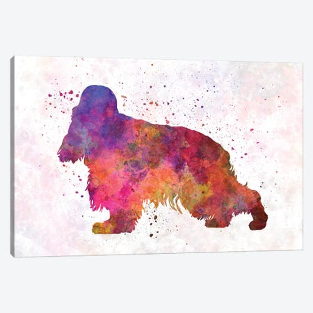 English Cocker Spaniel In Watercolor Canvas Print #PUR231} by Paul Rommer Art Print