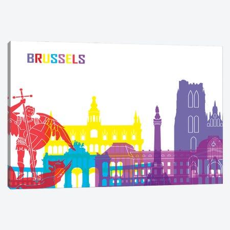 Brussels Skyline Pop Canvas Print #PUR2321} by Paul Rommer Canvas Art Print