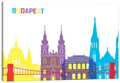 Budapest Skyline Pop Canvas Art Print