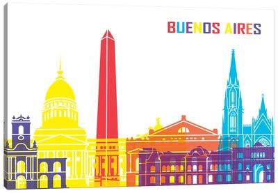 Buenos Aires Skyline Pop Canvas Art Print