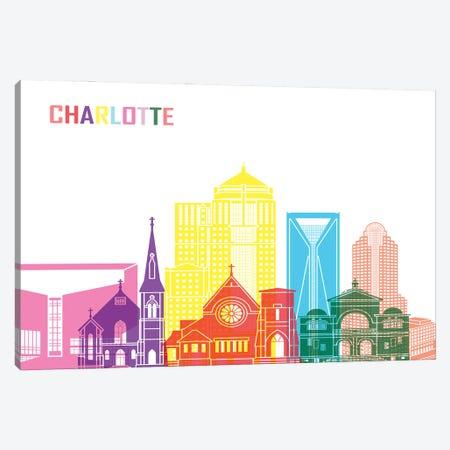 Charlotte II Skyline Pop Canvas Print #PUR2335} by Paul Rommer Canvas Print