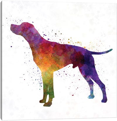 English Pointer In Watercolor Canvas Art Print