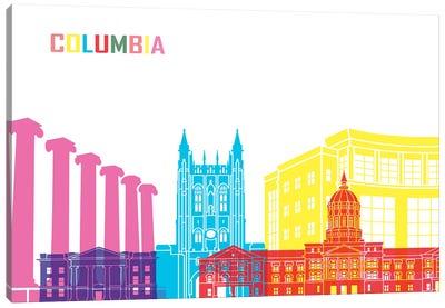 Columbia Mo Skyline Pop Canvas Art Print