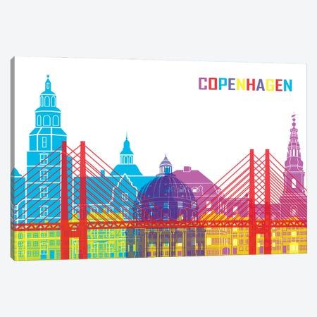 Copenhagen Skyline Pop Canvas Print #PUR2344} by Paul Rommer Canvas Artwork