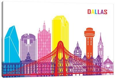 Dallas Skyline Pop Canvas Art Print