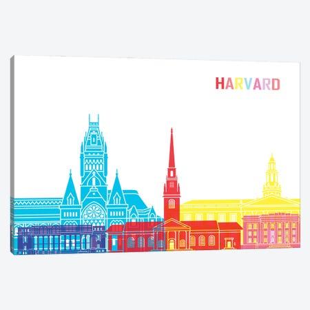 Harvard Ma Skyline Pop Canvas Print #PUR2383} by Paul Rommer Art Print