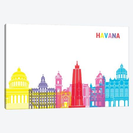 Havana Skyline Pop Canvas Print #PUR2384} by Paul Rommer Canvas Wall Art