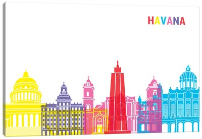 Havana Skyline Pop Canvas Art Print