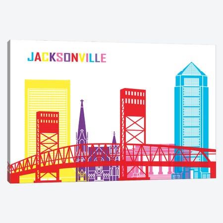Jacksonville Skyline Pop Canvas Print #PUR2395} by Paul Rommer Canvas Print