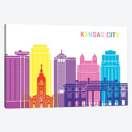 Kansas City II Skyline Pop Canvas Print #PUR2399} by Paul Rommer Canvas Artwork