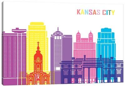 Kansas City II Skyline Pop Canvas Art Print