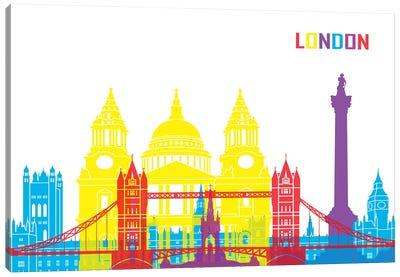 London Skyline Pop Canvas Art Print