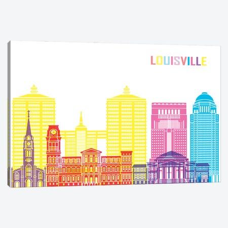 Louisville II Skyline Pop Canvas Print #PUR2432} by Paul Rommer Canvas Print