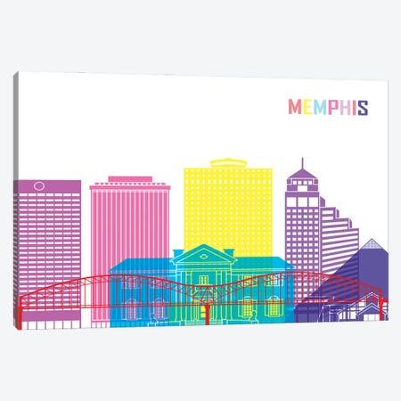 Memphis II Skyline Pop Canvas Print #PUR2444} by Paul Rommer Canvas Art Print
