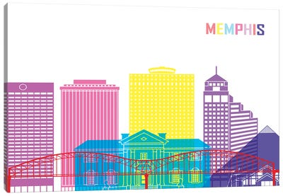 Memphis II Skyline Pop Canvas Art Print