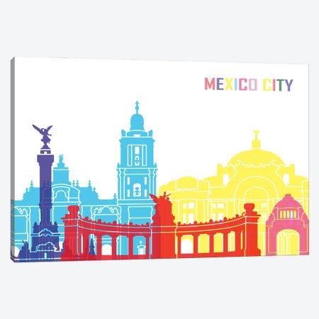 Mexico City Skyline Pop Canvas Print #PUR2447} by Paul Rommer Canvas Art Print