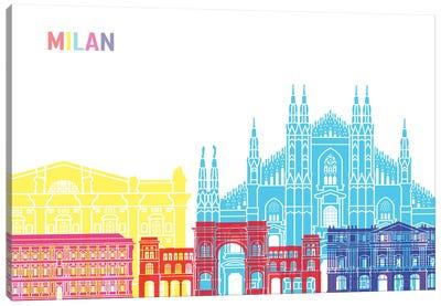 Milan Skyline Pop Canvas Art Print