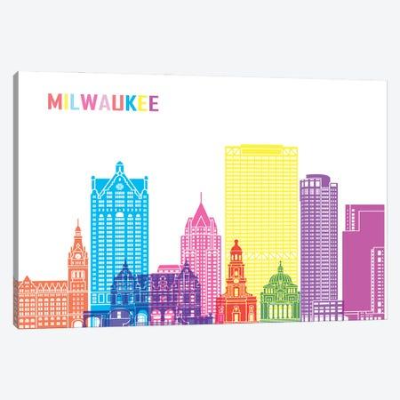 Milwaukee II Skyline Pop Canvas Print #PUR2449} by Paul Rommer Canvas Wall Art