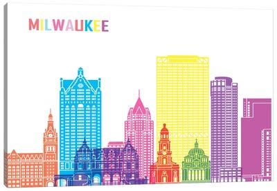 Milwaukee II Skyline Pop Canvas Art Print