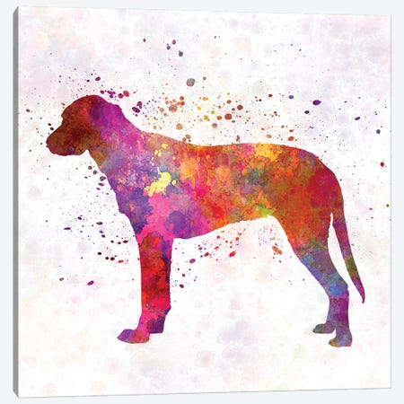 Finnish Hound In Watercolor Canvas Print #PUR244} by Paul Rommer Art Print