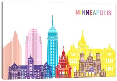 Minneapolis II Skyline Pop Canvas Art Print
