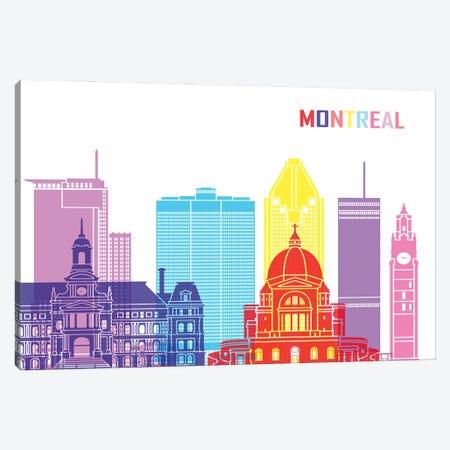 Montreal II Skyline Pop Canvas Print #PUR2452} by Paul Rommer Art Print