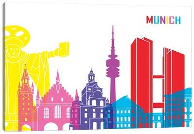Munich Skyline Pop Canvas Art Print