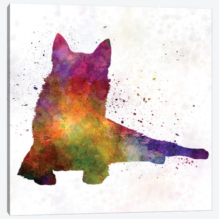 Finnish Spitz 01 In Watercolor Canvas Print #PUR245} by Paul Rommer Canvas Print